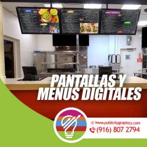 Menús y pantallas Digitales